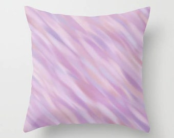 Decorative Throw Pillow Cover - Abstract, Different sizes, Indoors, Outdoors, Purple, Lilac, Lavender, Girl, Gift