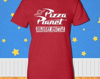 Pizza Planet Delivery Shuttle T-Shirt Disney Toy Story Inspired Tee Womens Mens Kids Sizes Available