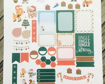 Weekly Planner Sticker Set Christmas Critters