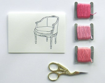 Louis-Era French Chairs Card Set from the Dauphine Collection