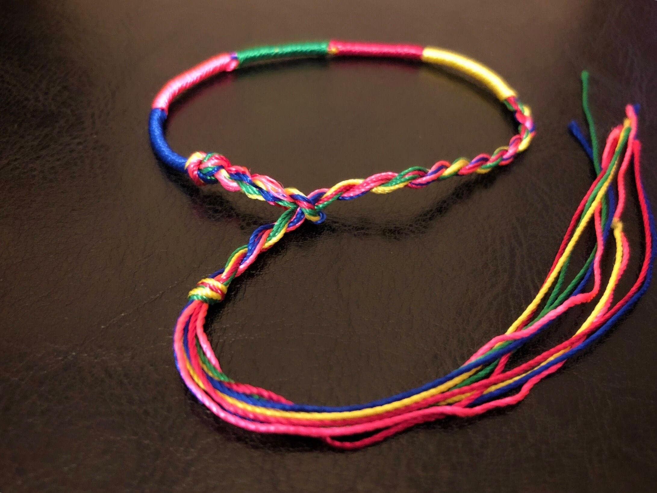 bracelets watch candy a how to make stripe youtube patterns anklet string bracelet