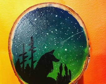 Birch slice art
