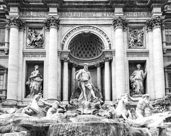 Trevi Fountain Print, Trevi Fountain Rome, Rome Photography, Rome Print