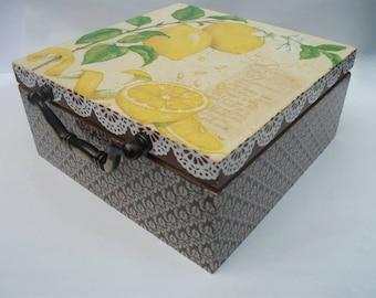 Wooden tea box, Tea gift box, Personalized tea box, Gift set tea box, Handmade tea box