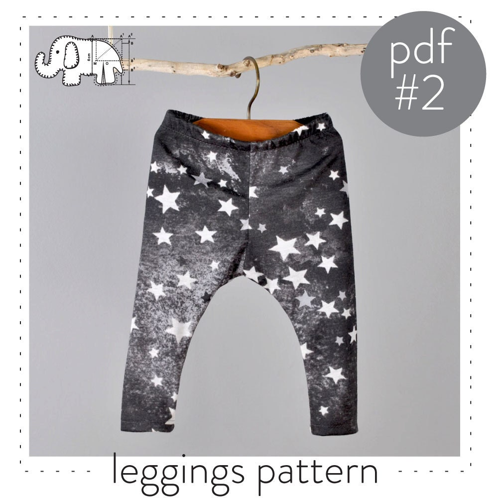 Childrens leggings sewing pattern pdf digital download zoom jeuxipadfo Image collections