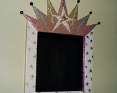 Framed crown mirror...