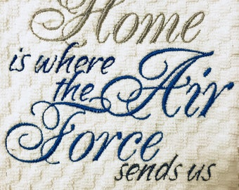 Home is where the Air Force sends ua