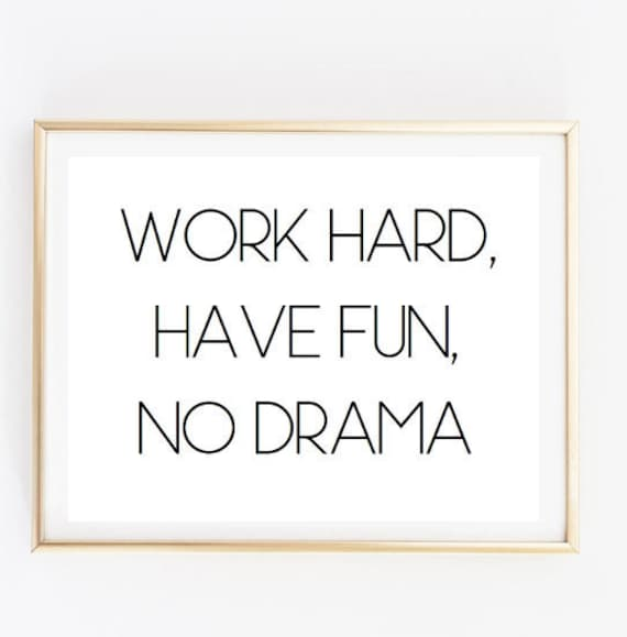 Work Hard Have Fun Inspirational Tumblr Quote Typographic