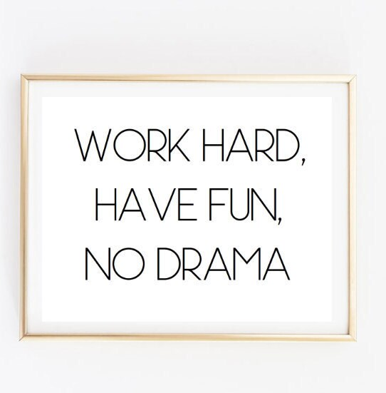 Funny Work Related Inspirational Quotes: Work Hard Have Fun Inspirational Tumblr Quote Typographic