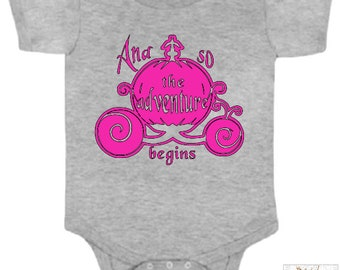 And So The Adventure Begins Fairy Tale Princess Pumpkin Carriage Infant / Baby Bodysuit or Toddler T-shirt