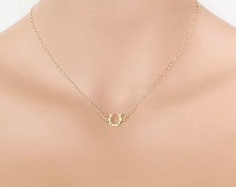 Horseshoe Necklace, Horseshoe Pendant, Gold Horseshoe, Horseshoe Jewelry, Small Horseshoe, Lucky Horseshoe, Equestrian Pendant, Lucky Charm