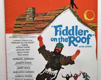 FIDDLER On The ROOF Piano Vocal Selections Songbook Music