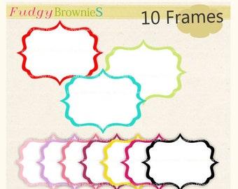 ON SALE Frame Clip Art Bracket Square Frames White Background