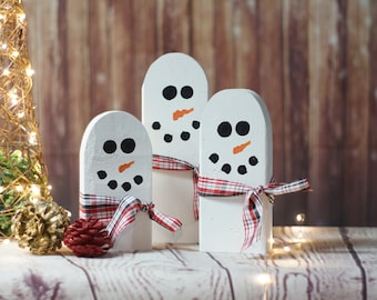 Hand Painted Snowmen