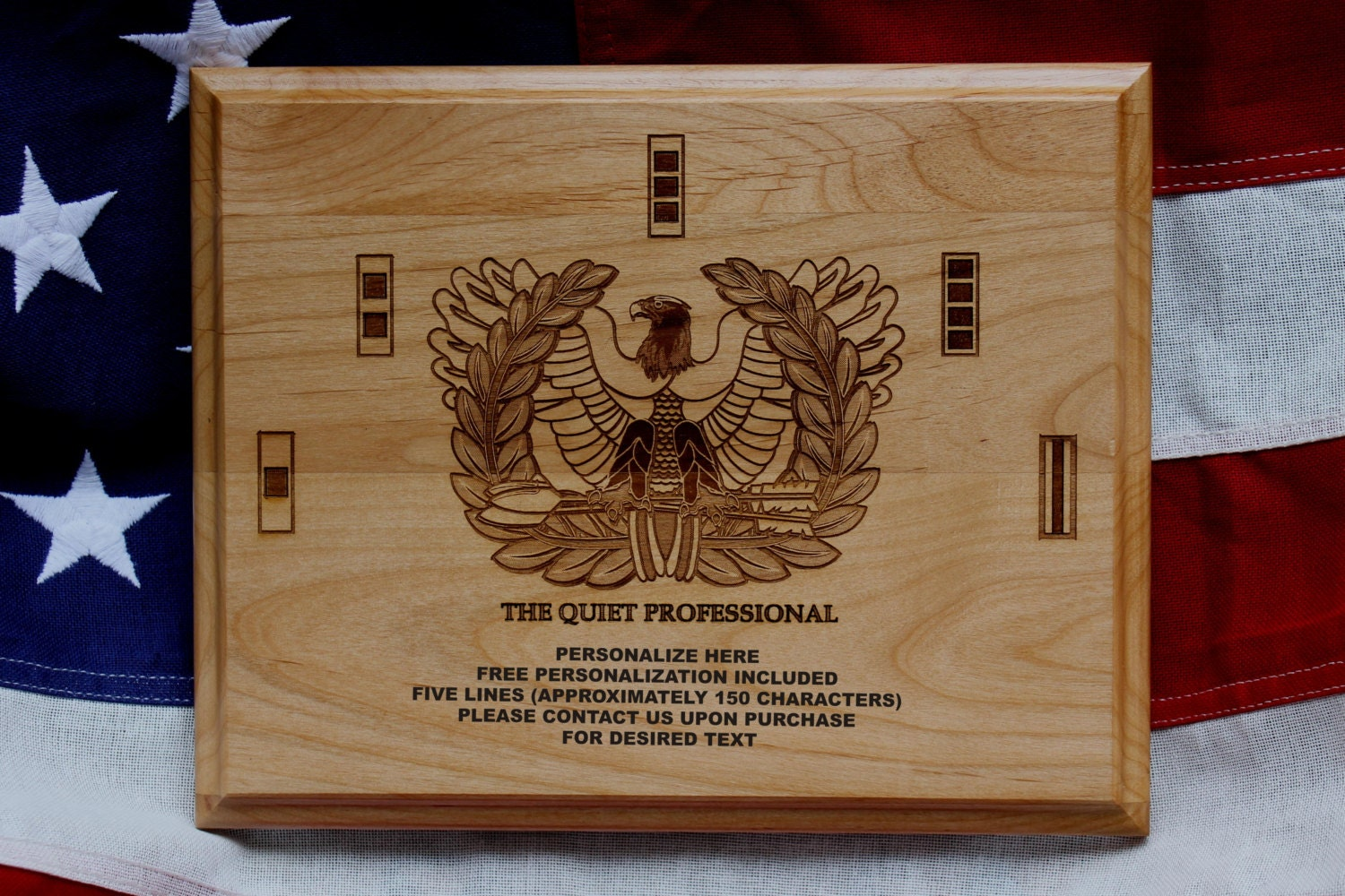 U S Army Chief Warrant Officer Plaque Eagle Rising The