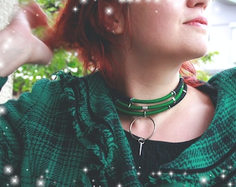 LEIYA Afrofuturistic Thread Choker / South African Retro Futuristic Tribal Choker / New Years Choker / Statement Jewelry