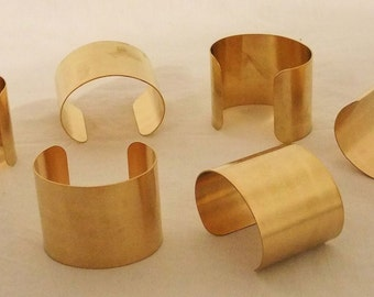 Set of 6 Brass Bracelet Cuff Blanks For Jewelry Making 2 inch