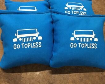 Go Topless Cornhole Bags