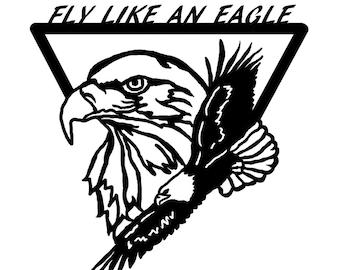 Fly Like an Eagle Wall Art - Metal Art - Home Decor - Make GREAT gifts!  sc 1 st  Etsy & Metal eagle wall art | Etsy