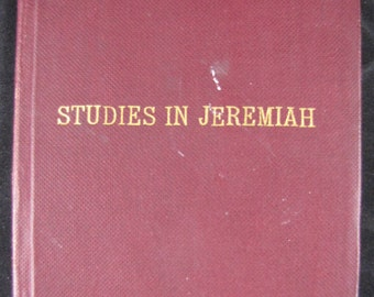 Thirty Studies in Jeremiah // 1901 Leatherette Softcover // Wilbert White // Old Testament Bible Study / YMCA Theology