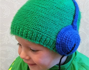 Baby Boy Beanie.Baby Boy Knit Hat. Boy hat. Hand knit baby hat. Baby hat. Knitted baby hat.
