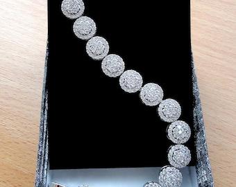 Bridal jewelry Wedding bracelet Bridal gift Crystal Wedding jewelry Gift for wife Cubic zirconia Crystal bracelet Bridal bracelet Bride jm2