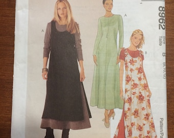 Uncut!! McCall's Dress and Overdress Sewing Pattern 8962 1997 Size 8, 10, 12