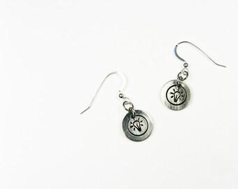 Light Bulb Earrings - Fun Lightbulb Jewelry for Scientist, Creative Idea Type - Charm Earrings Inspired by Inventor Thomas Edison