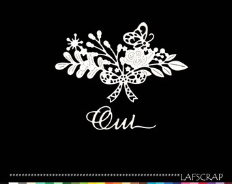 Cuts scrapbooking wedding word Yes Butterfly flower wedding Princess embellishment Scrapbook die cuts