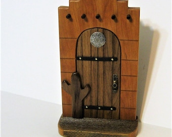 Southwest Fairy Door Made from Three Woods