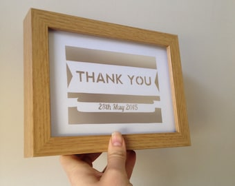 Papercut Templates - Emailed to buyer - Thank You - Personalisation available