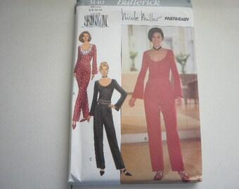 Pattern Vintage Ladies Jumpsuit Sizes 6 to 12 Butterick 3140 V