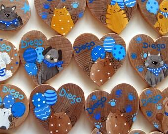 25 calamite in legno dipinte a mano bomboniere personalizzabili