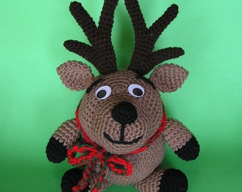 PDF Crochet Pattern PUDGY REINDEER (English only)