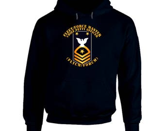 Navy - Fltcm-forcm Blue - Gold With Txt Hoodie