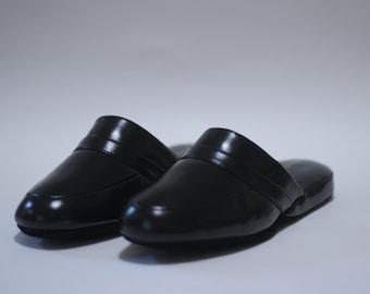 Men's Vintage Leather Slippers