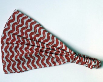Yoga Headband - Ty Pennington Cotton Fabric for Free Spirit - Wave in Spice