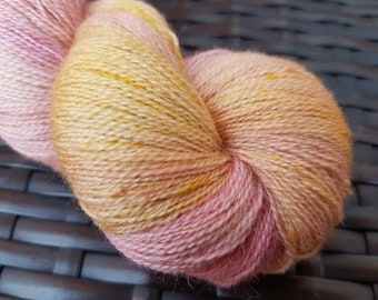Ariel: 100g Blue Faced Leicester hand-dyed heavy laceweight yarn.