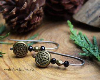 Celtic Titanium Arc Earrings, Hook Earrings, Open Hoop Earrings, Arc Earrings, Threader Earrings, Minimalist, Titanium, Hypoallergenic
