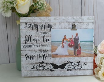 Wedding gift personalized, personalized picture frame, wedding photo gift, a perfect marriage, anniversary gifts for women