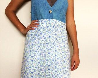 90s denim/floral dress