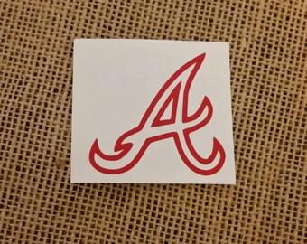 Atlanta Braves Decal, Atlanta Braves Yeti Decal, Atlanta Braves Vinyl Decal, Braves, ATL Braves, Atlanta Baseball, Braves Baseball