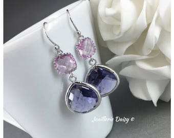 Bridesmaid Earrings Lavender and Purple Earrings Tanzanite Earrings Mother of Groom Gift Mother of Bride Gift for Her Lavender Wedding