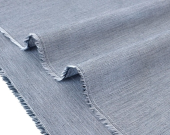 Japanese woven cotton fabric dyed gray x 50cm