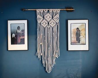 Macrame wall hanging | Arrow | Macrame | Wall art | Wall decor | Boho | Bohemian | Birthday gift | Gift for her | Bedroom decor | Home decor