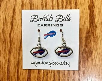 Buffalo Bills Earrings, Bills Earrings, Bills Football Earrings