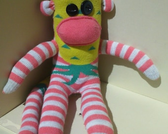 Sock Monkey Pineapple Pattern | Quirky Box of Critters