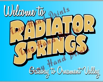 "Disney Pixar Cars ""Welcome to Radiator Springs"" Billboard Sign"