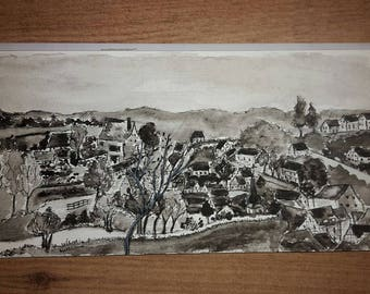 Pottenstein, set of 2 postcards in black and white