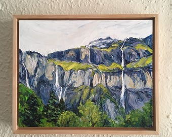 After the Rain at Sixt-Fer-à-Cheval  - framed original oil painting